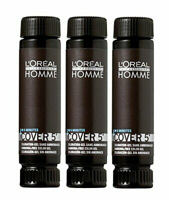 Loreal HOMME Cover 5 No 3 Dunkelbraun 3 x 50 ml