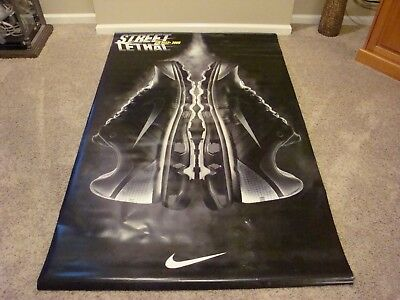 """Nike Air Max 2009 """"street Lethal"""" Double Sided Advertisement Banner**must See**"""
