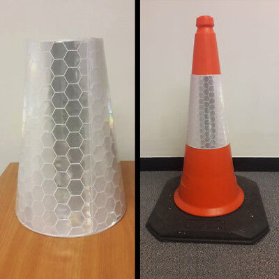 10 x U.K Reflective Traffic Cone Sleeves (Fits 750mm Cone)