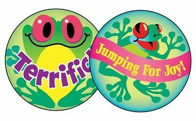 60 Trend Frolicking Frogs PINEAPPLE Scratch and Sniff reward Stickers