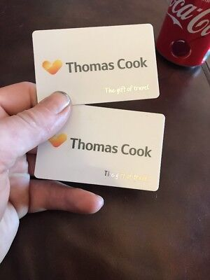 Thomas Cook holiday/travel Vouchers £100 On Each Card £200 Total