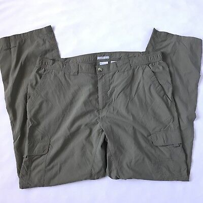 Men's Columbia 2XL XXL 34 L Insect Shield Permethrin Pants Trail Outdoor Cargo