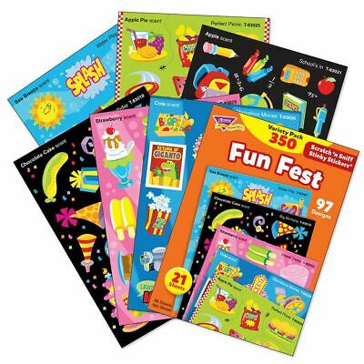 350 Trend Fun Fest Scratch and Sniff stinky reward Stickers Variety pack  n