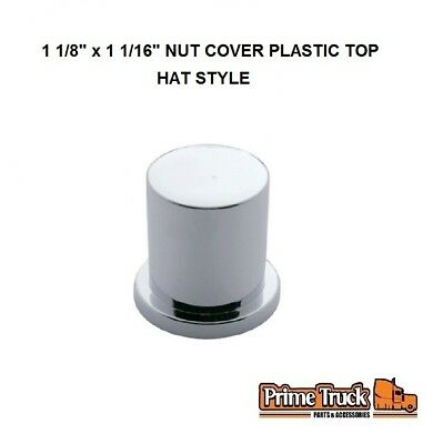 """(2 PCK) 1 1/8"""" x 1 1/16"""" NUT COVER PLASTIC TOP HAT STYLE"""