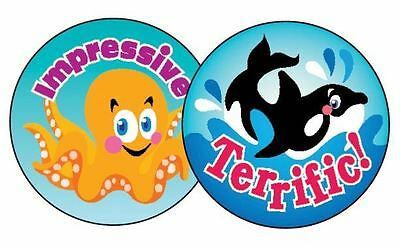 60 Trend Sea Animals BLUEBERRY Scratch and Sniff reward Stickers n'