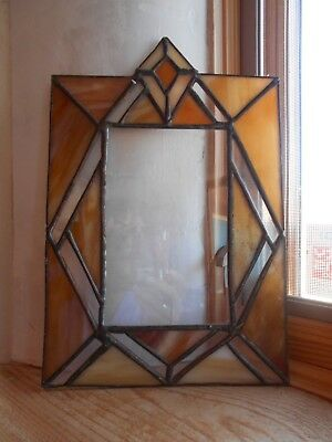 """Vintage - Leaded Stained Glass SunCatcher Window Hanging 7.5"""" x 11"""""""