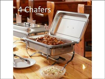 Full Size 8 Qt. Stainless Steel Economy Chafing Dish with Folding Frames