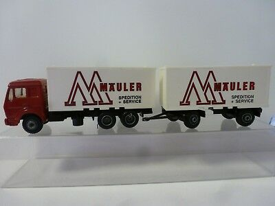 Werbetruck  E F S I  HOLLAND  MODELL 1:87  MÄULER SPEDITION  PVC BOX Sammeltruck