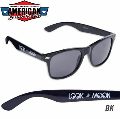 MOONEYES Sonnenbrille Retro Schwarz Hot Rod Air Cooled VW Kustom Moon