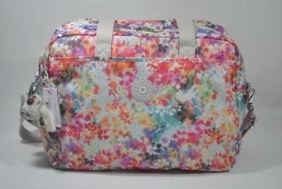 New With Tag Kipling POPPER Diaper Shoulder Bag with Changing Pad - Garden Happy