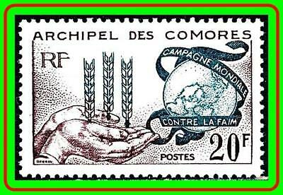 COMORO IS. 1963 FREEDOM FROM HUNGER joint ISSUE MNH SC#54 CV$5.50 FOOD