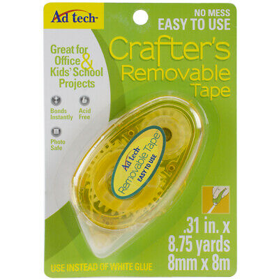 """Ad-Tech Crafter's Tape Removable Glue Runner-.31""""X315"""" For Tape Runner (4Pk)"""