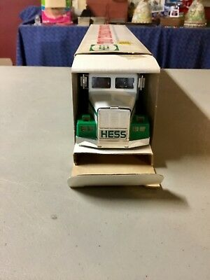 1990 HESS Toy Tanker Truck NEVER TAKEN FROM BOX From Defunct NJ Arcade see photo