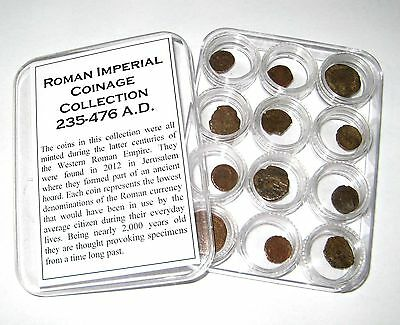 Ancient Roman Imperial coin collection in capsules 12 coins neat gift w ID cards