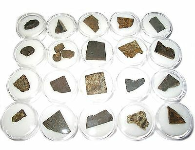 NWA meteorite chondrite micromount collection 20 different classified falls