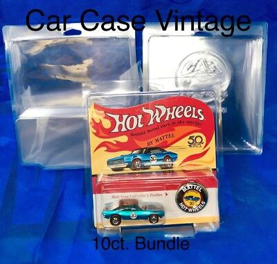 VHTF PROTECH Display Acrylic hard Case for carded hot wheels empty no car
