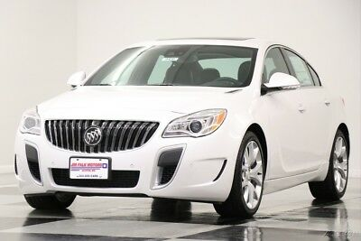 Buick Regal MSRP$41695 AWD GS GPS Leather Sunroof White Frost New Navigation Heated Black Seats Bluetooth Bose Camera Remote Start 18 16 2016