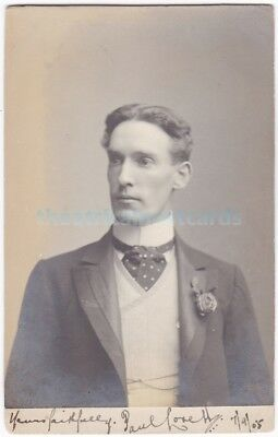 Stage actor Paul Lovell. Signed postcard dated 7th September 1905