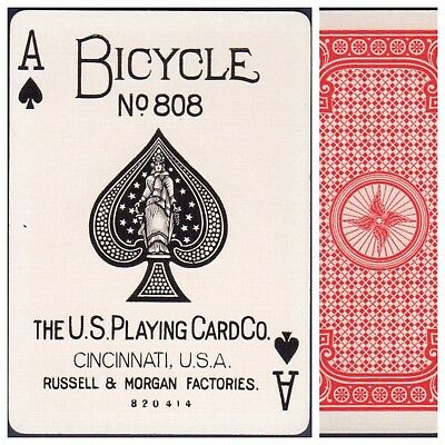 Playing Cards 1 Swap Card Antique BICYCLE 808 US8c ACE OF SPADES - RACER No.2 b