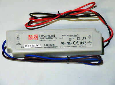 MEAN WELL LPV-60-24 50W Switching Power Supply 24V 2.5A AC/DC LED Driver US