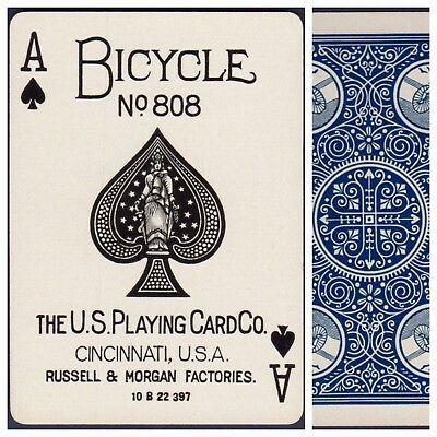 Playing Cards 1 Swap Card Antique BICYCLE 808 US8c ACE OF SPADES - EXPERT a