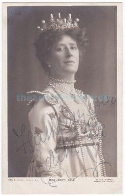 Stage actress Edith Cole in costume. Signed postcard