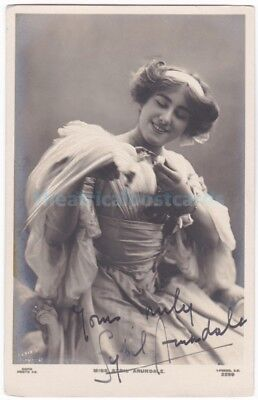 Stage actress Sybil Arundale in costume. Signed postcard