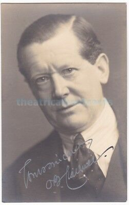 Stage actor Oliver Burchett Clarence. Signed postcard