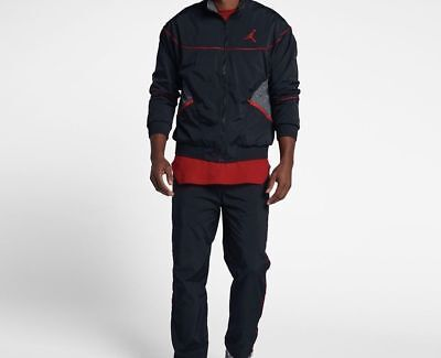 8f638547695519 MENS JORDAN AJ 3 Woven Vault Jacket 897410-010 Black Brand New Size ...