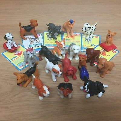 Vintage Puppy In My Pocket M.I.LTD Dogs Figures & Cards Bundle