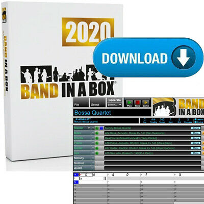PG Music Band in a Box MegaPak 2020 PC Windows Mega Pack Music Composition