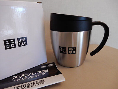 "Exclusive in JAPAN-""UNIQLO""-Stainless Thermos Mug Cup-New in Box-Pomo"