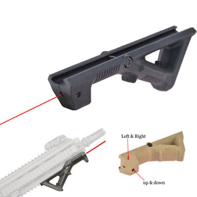 Tactical AFG2 Style PTS Angled Foregrip Hand Guard Grip with Adjustable Laser