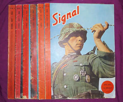 Signal magazines, German edition (D), 1944 Numbers 3, 7, 8, 11, 12 and 13