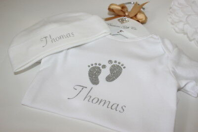 Personalised Baby Grow And Hat, Baby Gift, Personalised Baby Gift, New Baby Gift
