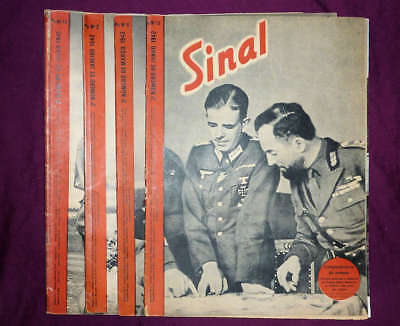 Signal magazine, Portuguese Sinal edition (Po),  4 issues from 1941 and 1942