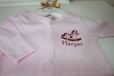Personalised Sleep Suit, Personalised Baby Gift,  New Baby Gift *more Colours*