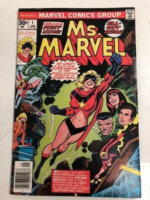 Marvel Comics Group Ms. Marvel # 1 .30 Cent Cover Comic Book Free Shipping