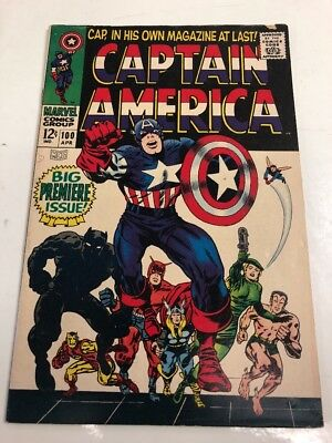 Marvel Comics Group Captain America # 100 Comic Book Free Shipping .12 Cent