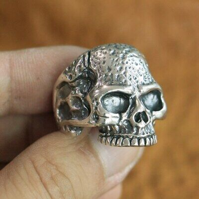925 Sterling Silver Skull Men Biker Punk Gothic Ring Handmade Punk Jewelry TA118