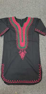 African clothing for men-Dashiki M-5X RED BLACK AND GREEN