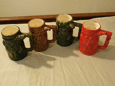 One - Whistle For Your Beer Pottery Mugs Man Cave Bar Your Pick Green Red Brown
