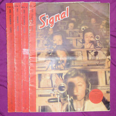 Signal magazine, Norwegian edition (N), 1944 Nrs 6, 7, 9 and 10