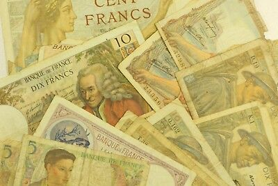 {DO533B} Lot of Assorted Vintage French Bank Notes