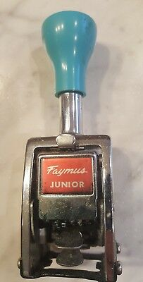 Vintage Faymus Junior Automatic Numbering Machine, Made in Japan