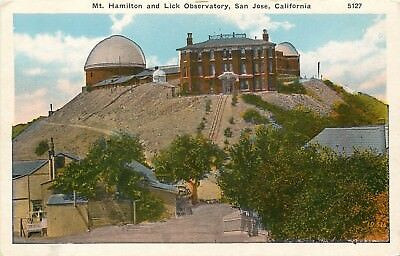White Border Postcard CA D542 Mt Hamilton and Lick Observatory San Jose ca1915s