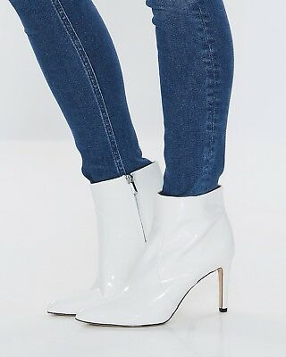 deecfd01c66f10 Sam Edelman Women s Olette Pointy Toe Booties Size 7 White Patent Leather