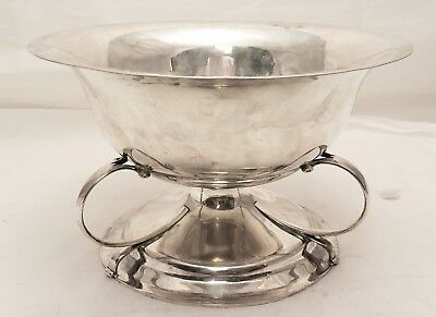 Arts & Crafts Sterling Silver Three Handled Centerpiece / Serving Bowl
