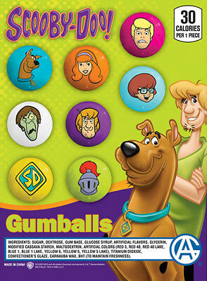 "Bulk Gumball Candy Vending Machine - 225pcs 1"" Scooby-Doo Bubble Gum Balls"
