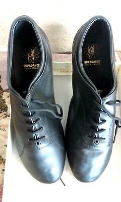 Supadance Style 8500 mens black leather Ballroom / Latin shoes size 9.5